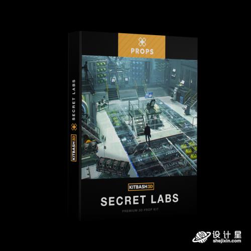 Props: Secret Labs 秘密实验室 道具设备模型 – KitBash3D