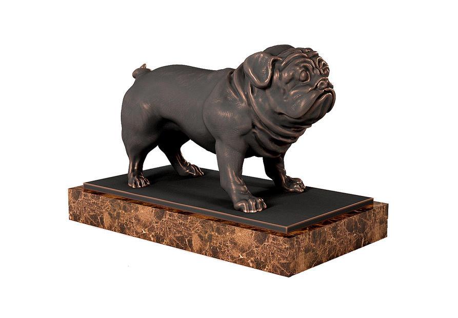 Pug Sculpture 巴哥犬 八哥犬 哈巴狗 沙皮狗 哈巴狗雕塑模型 巴哥犬摆件 巴哥犬雕像 巴哥犬石像