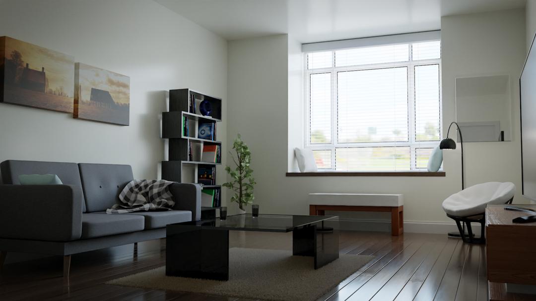 Create & Design a Modern Interior in Blender 2.8
