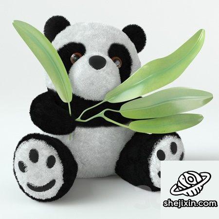 Teddy bear – panda toy 熊猫玩偶布娃娃 熊猫玩具模型 熊猫手办模型 熊猫绒毛玩具max+fbx