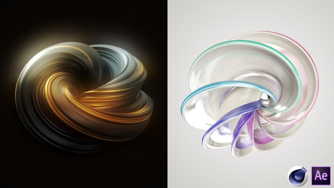 Learn Cinema 4D - Create Abstract 3D Design Elements - Shape 4