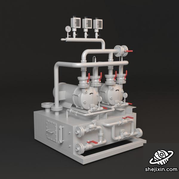 Compressor 空气压缩机 压缩机模型 空气增压机 气压增压机 工业空气压缩机模型 max+fbx