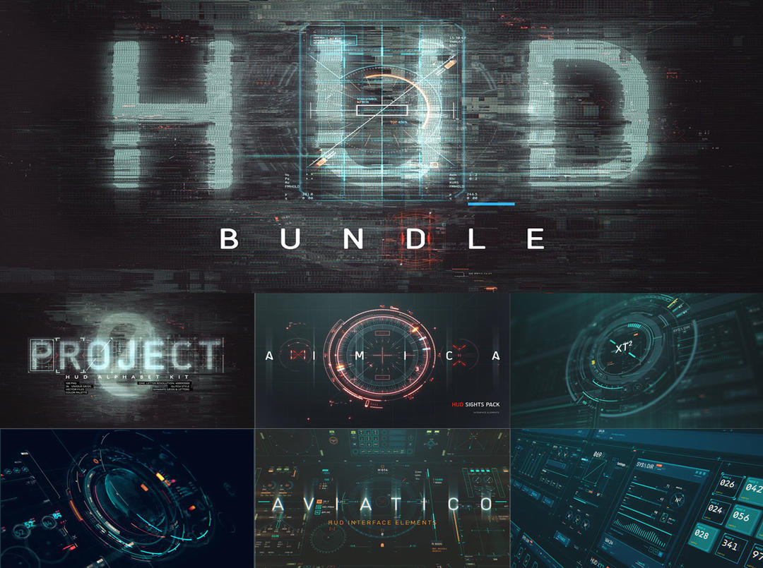 HUD BUNDLE - interface elements 4269153  HUD科 UI元素