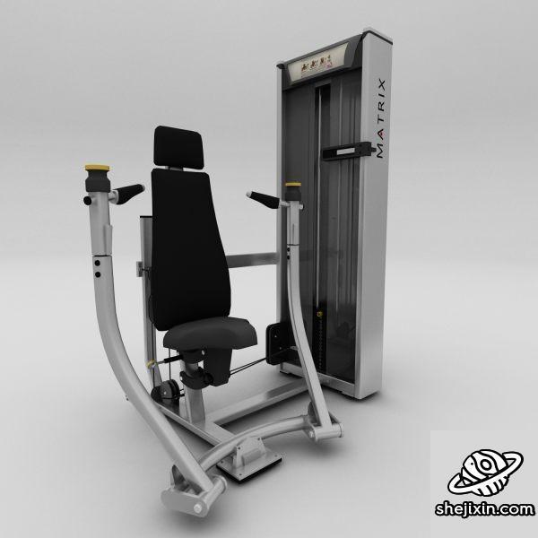 Chest-Press machine 机械式胸部推举 健身器材 扩胸健身器材 max+fbx