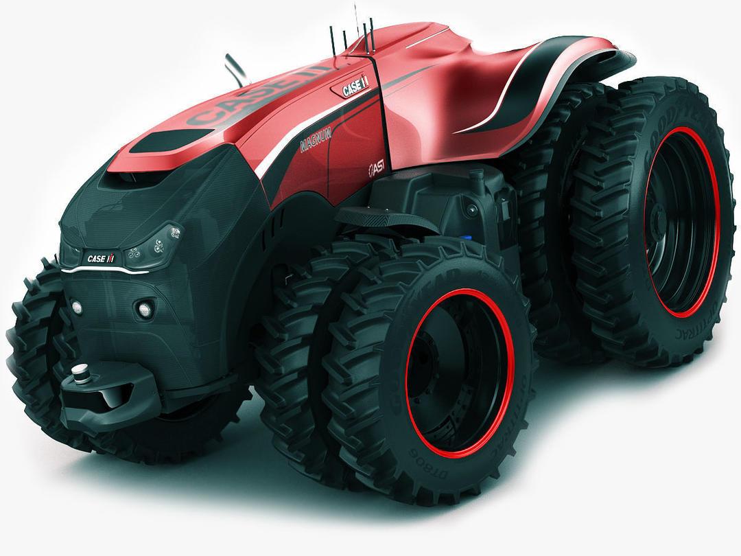 Case IH Autonomous Concept Tractor 3D model