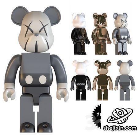 仿品KAWS玩偶模型 bearbrick玩偶模型 KAWS扩展玩偶模型 KAWS玩偶周边模型  塑料玩偶