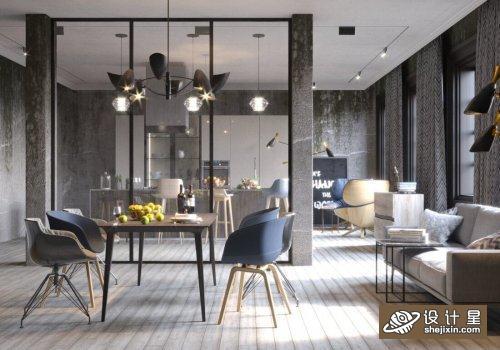 Interior Kitchen – Livingroom Scene By NamNguyen室内厨房模型 室内客厅场景 公寓客厅模型 高端公寓餐厅模型
