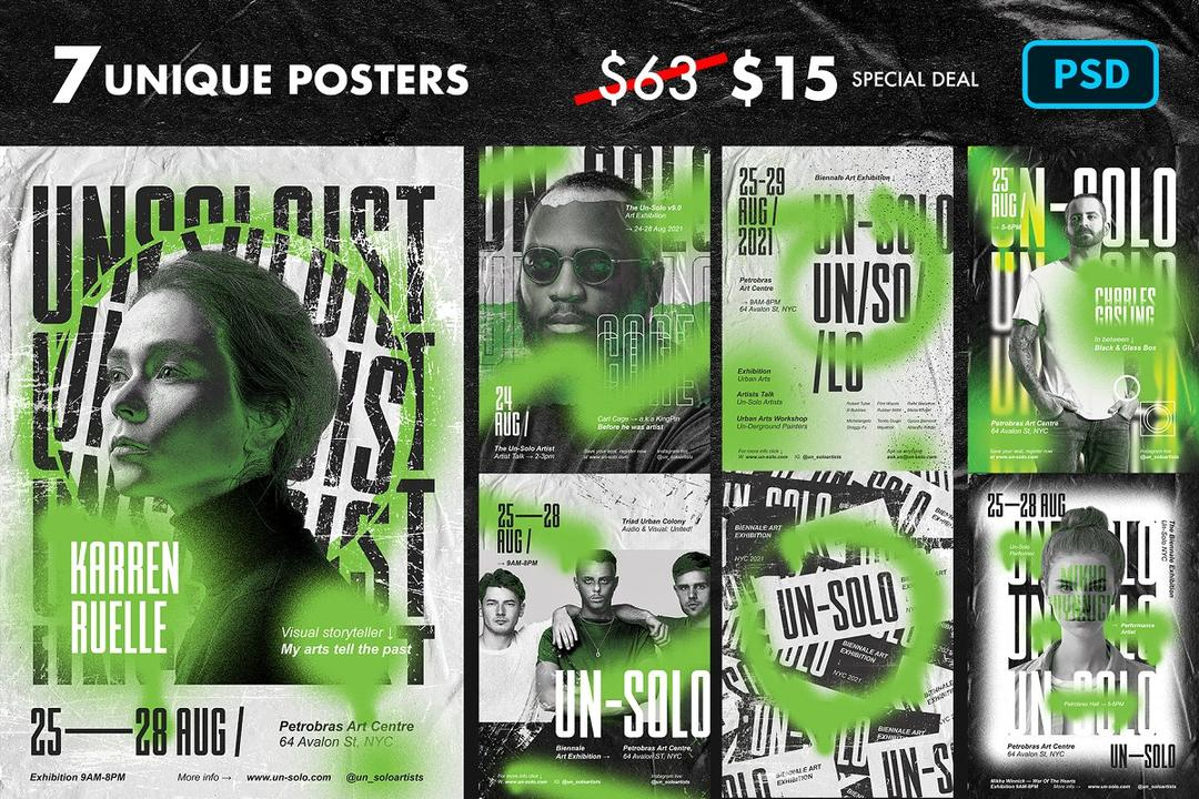 Artist Event Poster Templates 4957410 艺术家活动海报模板