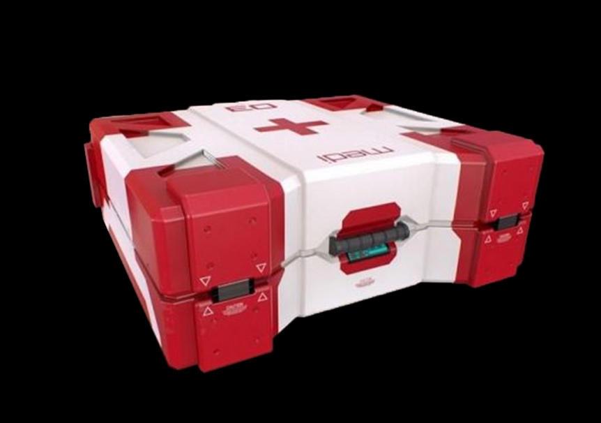 Sci-Fi Medical Crate PBR 科幻医疗箱 科幻急救箱模型 急救箱模型
