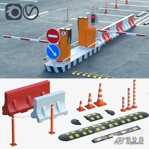 Equipment for the creation of parking lots, road fences 交通设施模型 停车场智能门禁系统