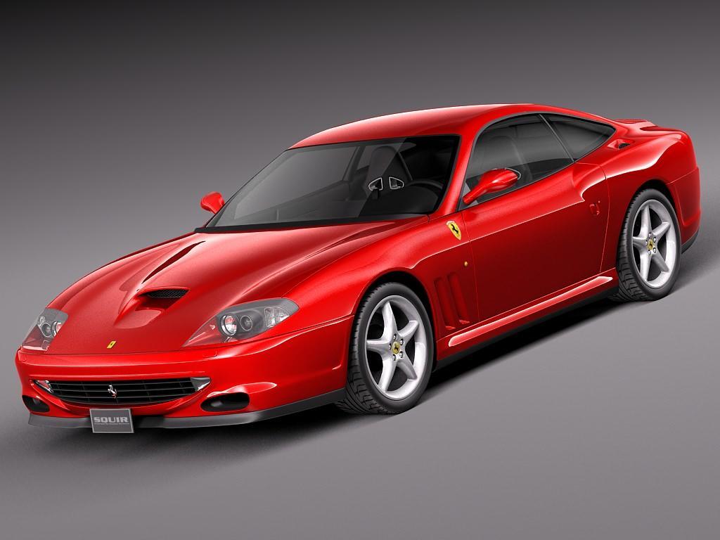 Ferrari 550 Maranello 1996 3D model