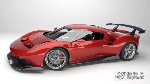 Ferrari P80C 2019 3D Model