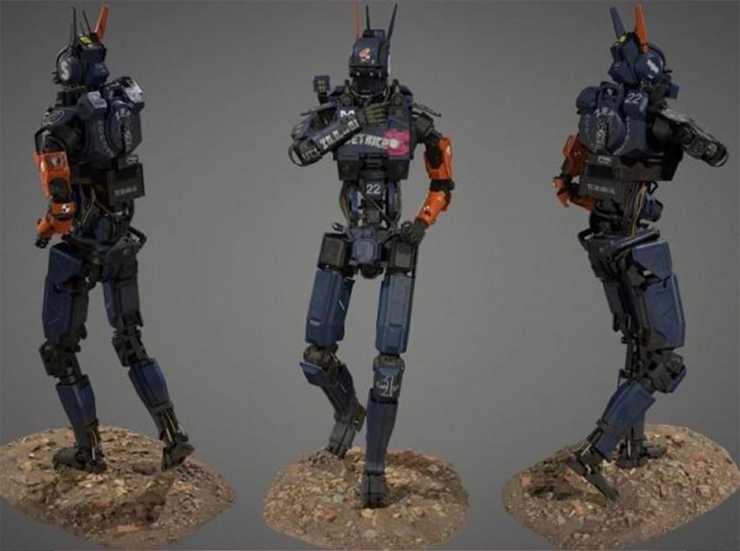 Robot Chappie PBR 超能查派机器人模型 智能机器人模型 max+fbx+obj
