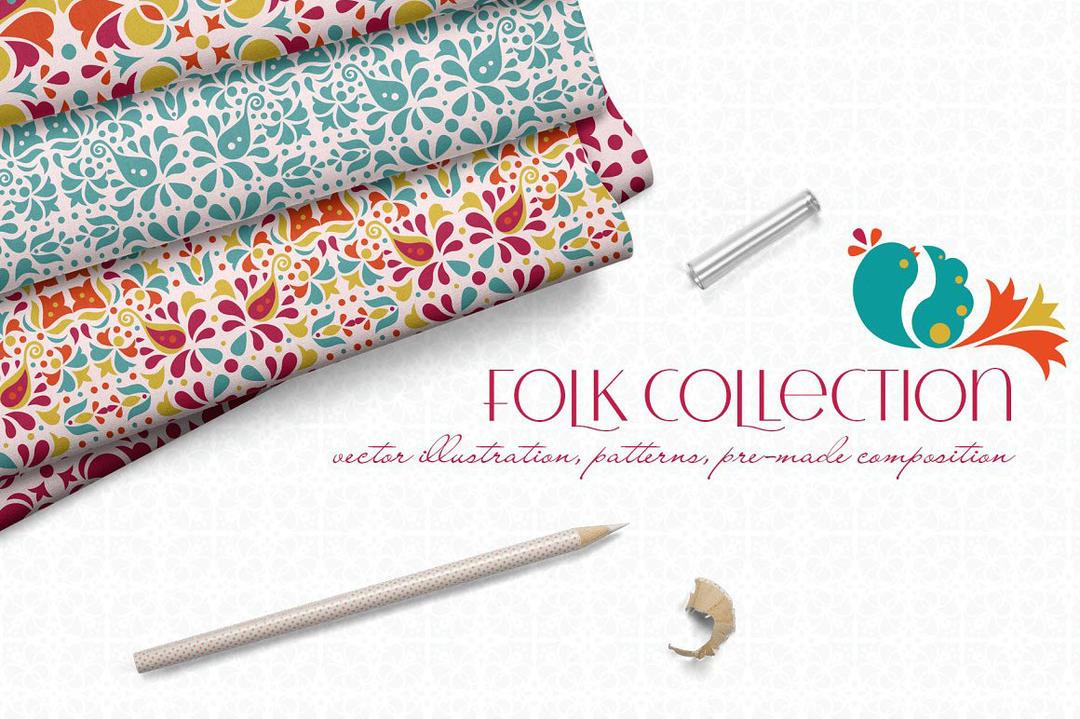 Folk Collection 背景纹理素材