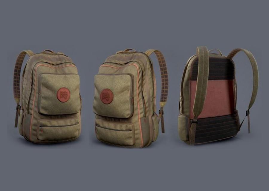Backpack PBR 书包模型 时尚书包模型 少年书包模型 中学生书包模型 双肩背包max+fbx+obj