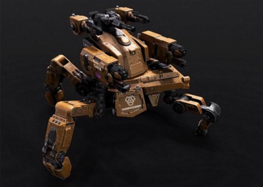 Spider-Mech蜘蛛机器人 机甲战士 战争机器人 机器人机甲战士 蜘蛛机器战甲 蜘蛛机器战警 防御机器人 max2015+fbx+obj
