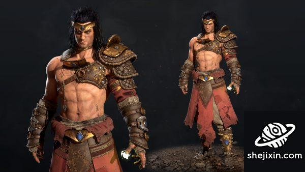 ArtStation Marketplace – Viking Broly (PBR) 游戏战士模型 武士模型 勇士模型 勇猛战士模型 战神兄弟模型 猛士模型
