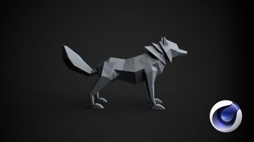 Learn Cinema 4D: Low Poly Wolf 课程+项目文件+带字幕