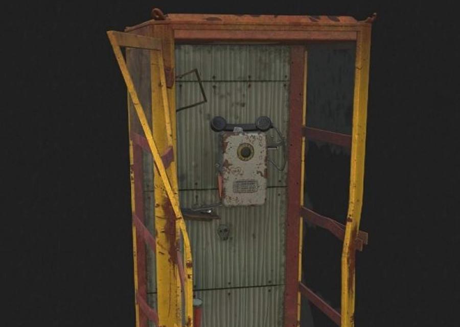 Abandoned telephone booth PBR 废弃的电话亭PBR