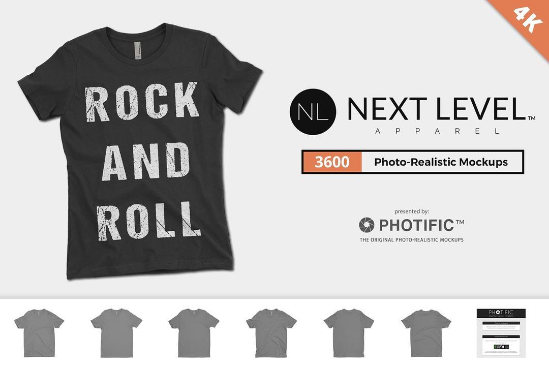 Next Level 3600 T-Shirt Mockups T恤样机模版