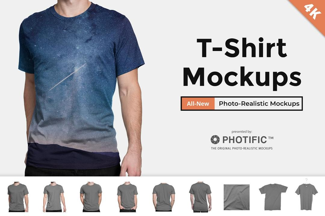 T-Shirt - Apparel Mockups 295790 T恤-服装样机模版 短袖样机