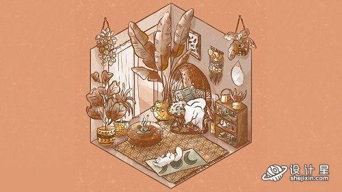 Isometric Illustration in Procreate: Design Your Dream Room+中英文双字幕