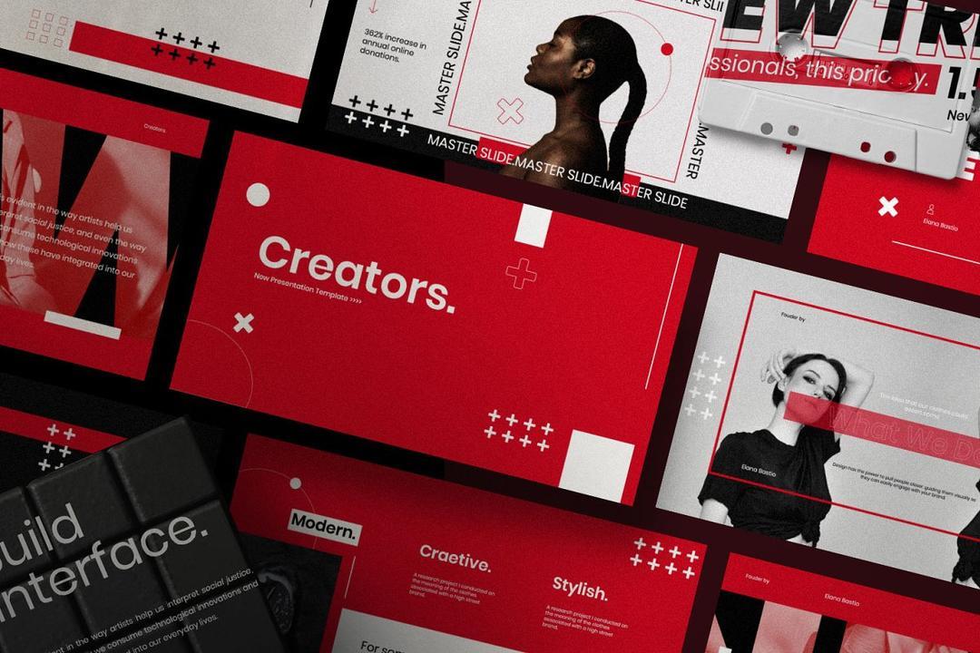 Creators - Dynamic Powerpoint 时尚营销策划案演示文稿设计模板