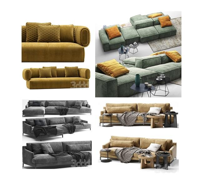 3DDD Pro Models – Sofas Beds Chairs