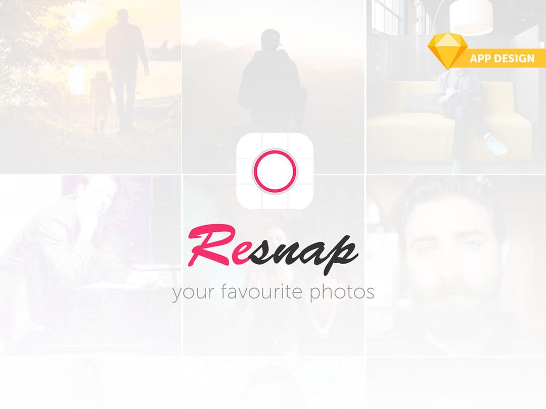 iOS Photo Editor App Design iOS照片编辑器APP UI模版