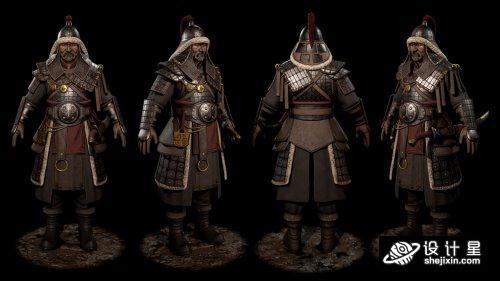 Eastern Heavy Warrior蒙古国勇士  蒙古国战士模型  古代蒙古战士 蒙古将军模型 东部重型战士 max+fbx+obj