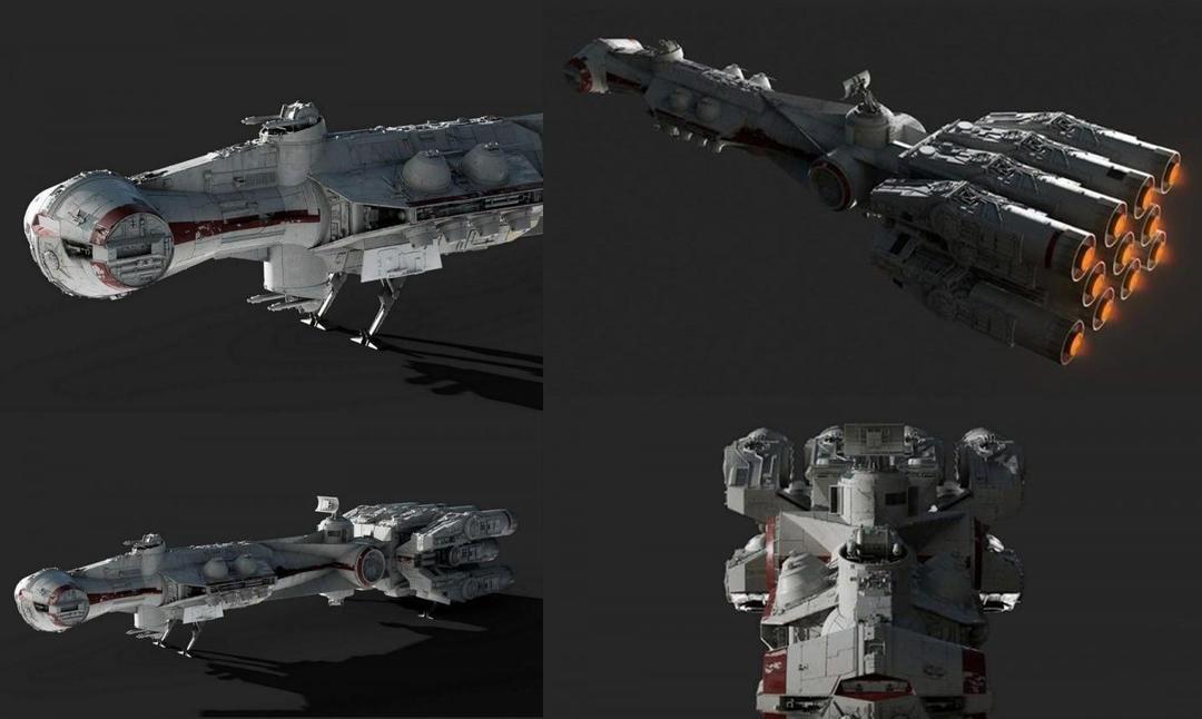 Tantive IV – Blockade Runner – Corellian Corvette PBR 科幻宇宙飞船模型