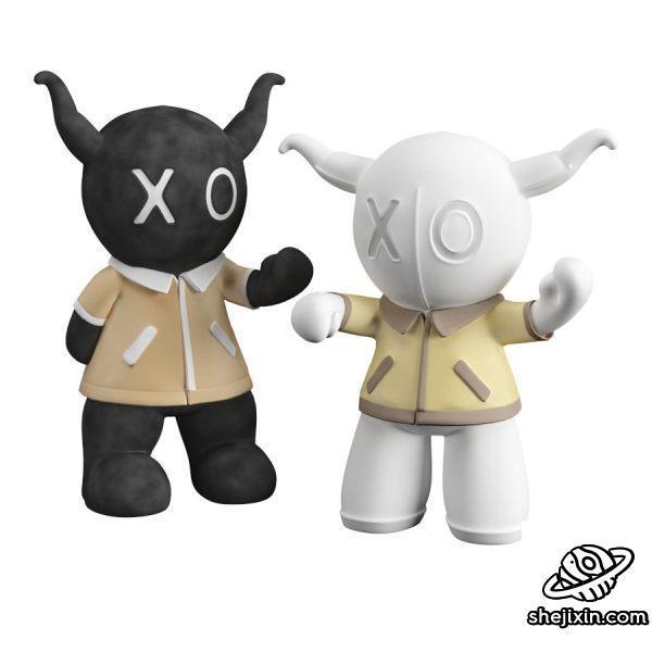 Black And White Doll 黑白娃娃 黑白xo玩偶 布娃娃玩偶 儿童玩具模型 吉祥物玩偶 玩偶周边模型 max+fbx