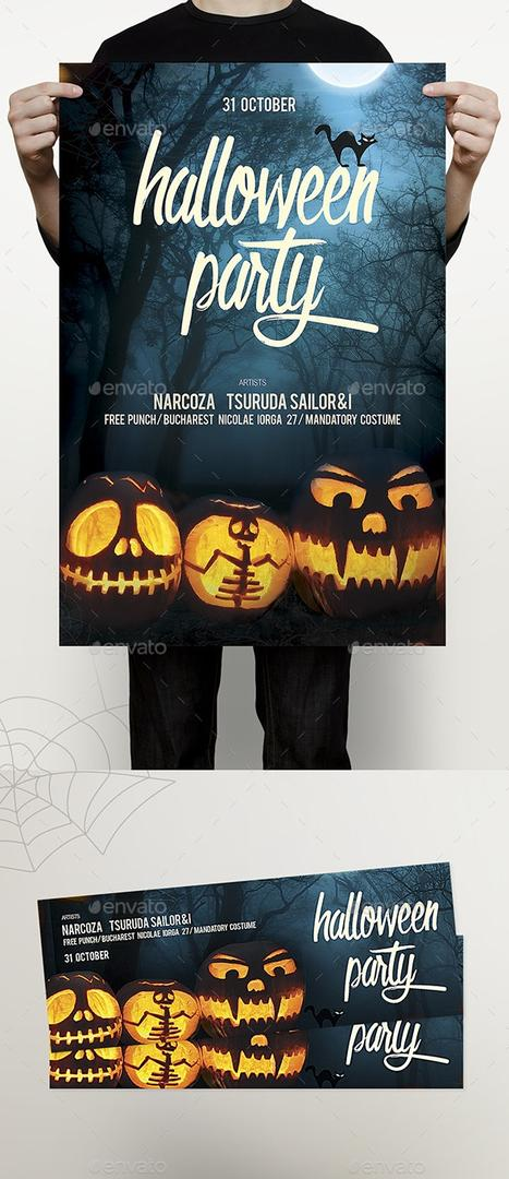 Halloween Flyer 万圣节海报模版