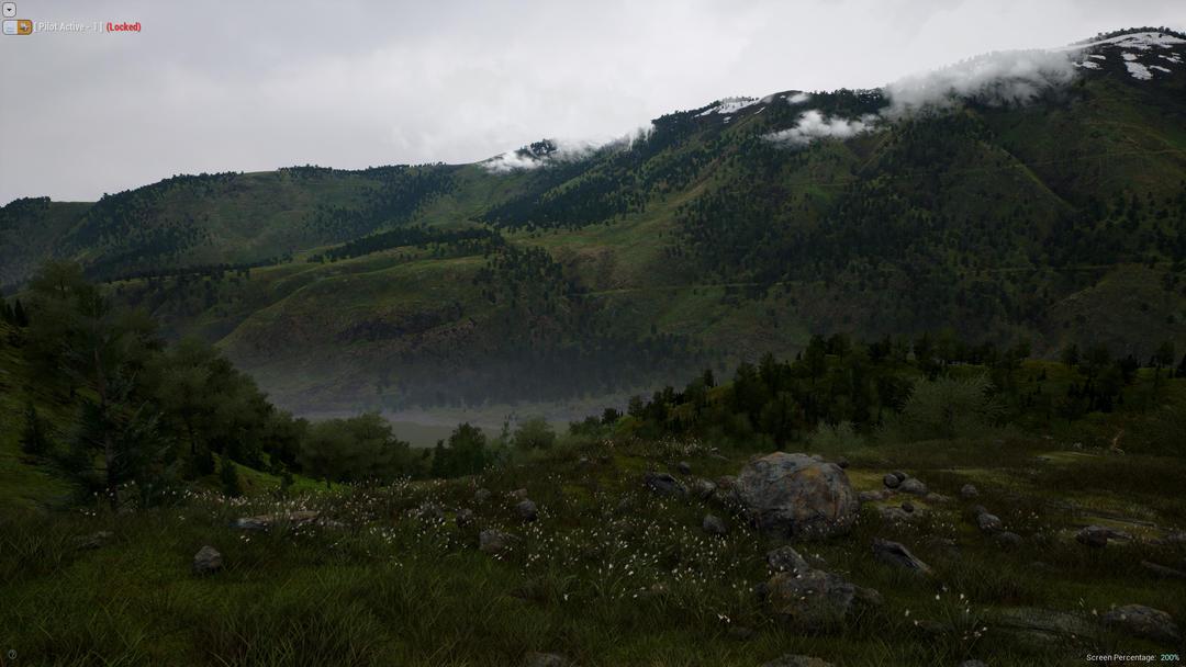 UE4 峡谷山峰景观资源包 山地地形模型 秋季山谷 冬季雪峰 雪景山峰模型 冬季雪山模型Landscape Smart Material