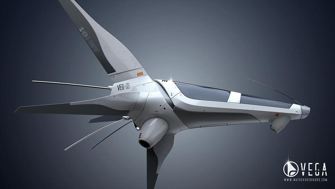 VEG-03 Spaceship Free 3D model 科幻飞船模型 spaceship 星球大战小型飞船 星际穿越飞船模型