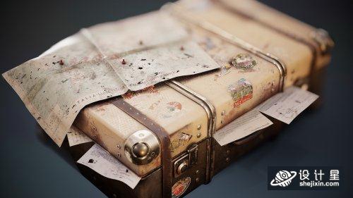 Twentieth Century Travel Case90年代旅行箱 二十世纪复古旅行箱 古董旅行箱 博物馆旅行箱 破旧行李箱模型 民国行李箱模型