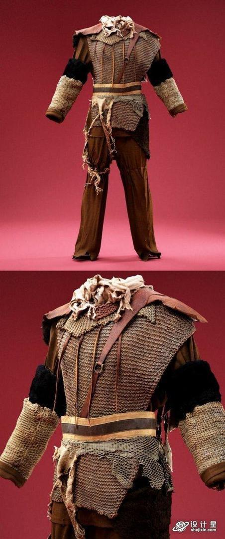 Costume Chain Mail Soldier 士兵破旧服装模型 古代破旧服装模型 博物馆破旧服装模型