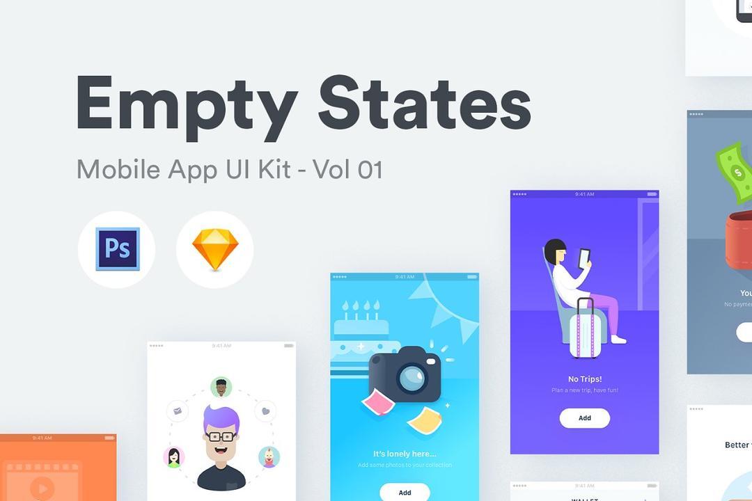 Empty States Vol 01 引导页插画