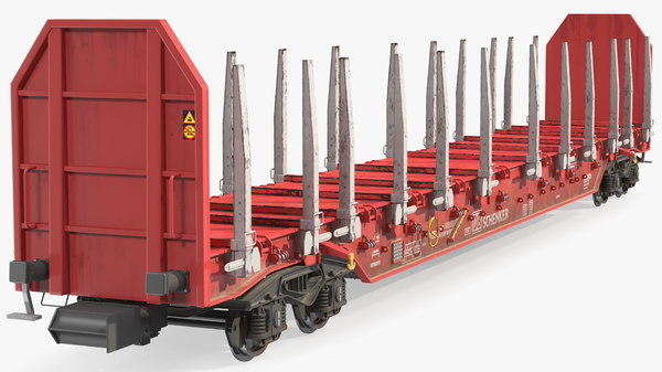 牲畜货运列车车厢 火车货运车厢 牛马货运列车 木料运输列车 铁路货车机械Rnoos 644 Stake Wagon Empty Dirty
