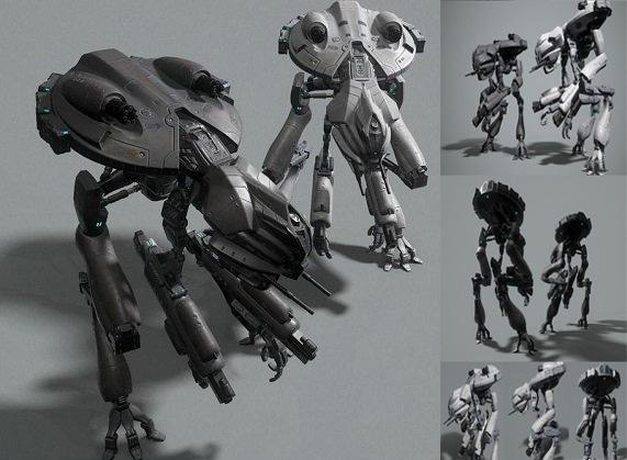 次世代科幻机器人模型 SciFI Mech 3D model
