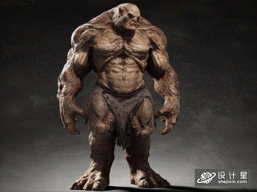魔兽怪兽角色 游戏怪兽模型 兽人模型 邪恶野兽模型 野蛮人角色+骨骼 Troll rigged 3D model