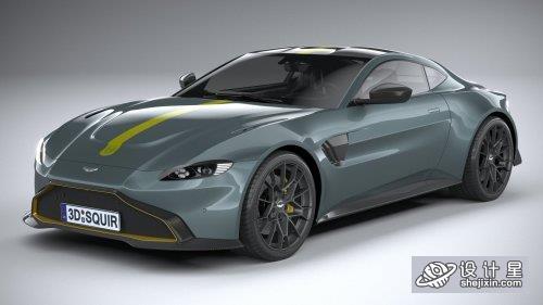 2020款 阿斯顿马丁Vantage AMR超级跑车Aston Martin Vantage AMR 2020 3D Model