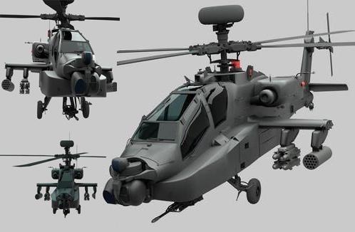 AH-64D 阿帕奇武装直升机 AH-64D Apache 3D Model
