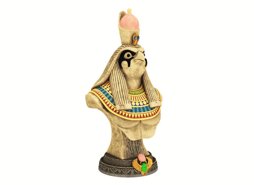 古埃及鸟人神像 荷鲁斯神像 荷鲁斯之眼神像 鹰头神 天空之神 法老守护神 乌加特 希腊神话鸟人神话雕Gore