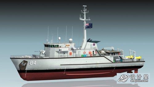 澳大利亚HMAS军事作业船 澳军导弹驱逐舰 诺曼河号扫雷舰 澳大利亚海军作业船HMAS Norman M-84 Minehunter