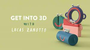 6个卡通可爱案例C4D循环动画材质教程
