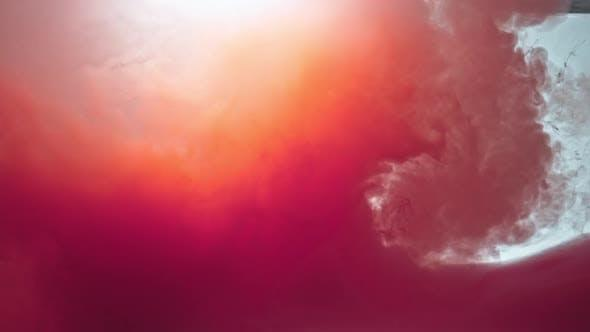 Glowing Orange And Red Colors Abstract (Stock Footage) 发光的橙红色抽象流体视频素材
