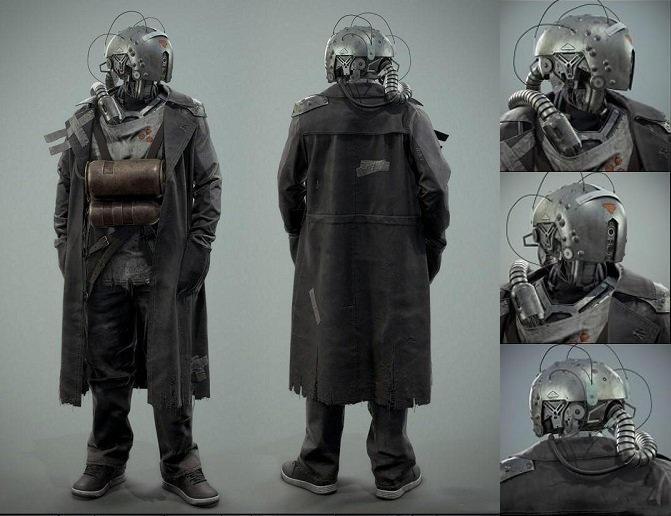 次时代半机械人 赛博朋克半机械人 末日幸存者 赛博朋克机械人类 科幻电影克隆人 实验室机械人Survivor Cyborg 3D model