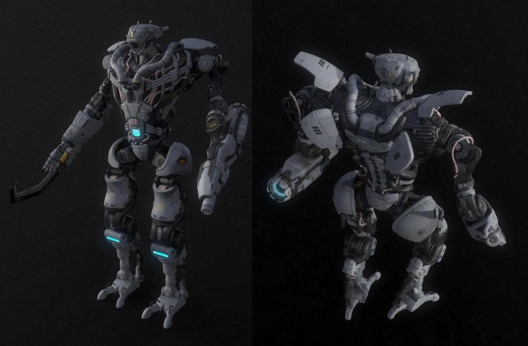 Collossus 3D model 战争机器人 军事机甲 科幻电影战争机器人 星球大战武装机甲 机甲战士 钢铁机甲 机械战警