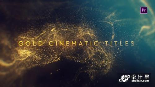 Videohive Gold Cinematic Titles Mogrt 23260042 金电影标题AE模板